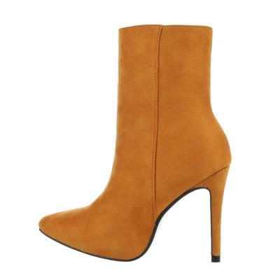 High Heel Stiefeletten für Damen in Gelb