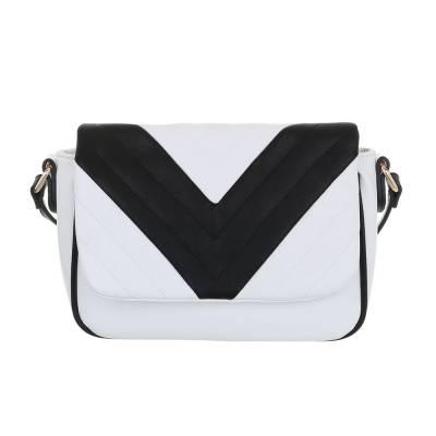 Kleine Damen Tasche Weiß Schwarz