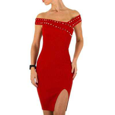 Stretchkleid für Damen in Rot
