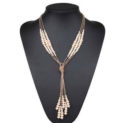 Halskette für Damen in Altrosa