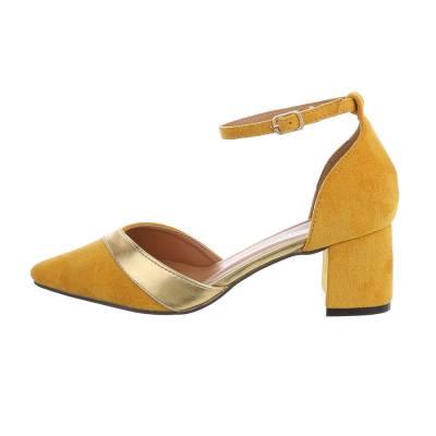 Schnür- & Riemchenpumps für Damen in Gelb