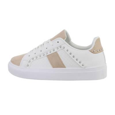 Sneakers low für Damen in Weiß und Beige