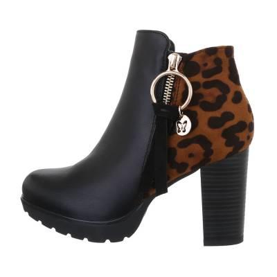 High Heel Stiefeletten für Damen in Schwarz und Braun