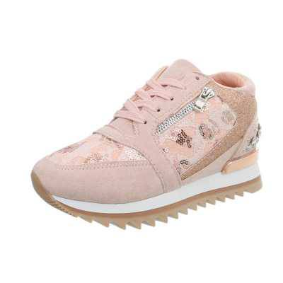 Sneakers high für Damen in Rosa
