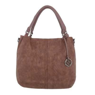 Mittelgroße Damen Tasche Rosa Braun