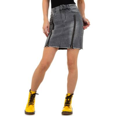 Jeansrock für Damen in Grau