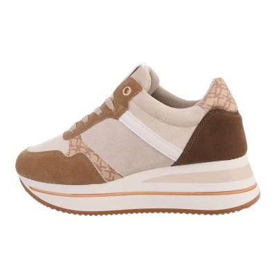 Sneakers Low für Damen in Beige und Braun