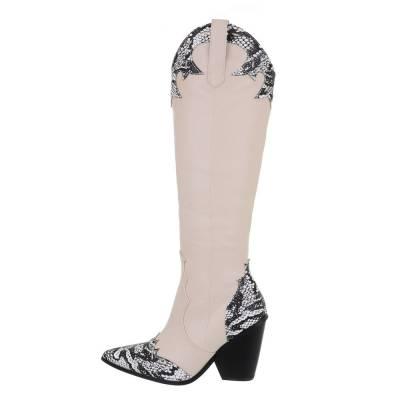 High Heel Stiefel für Damen in Beige