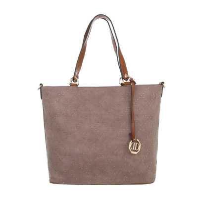 Mittelgroße Damen Tasche Rosa Beige
