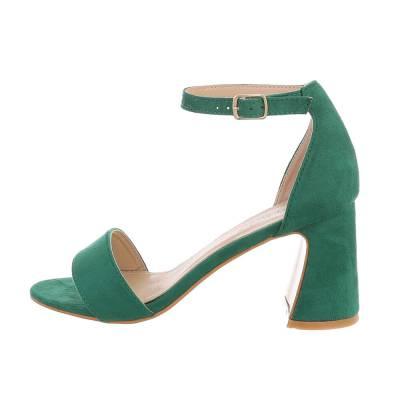 High Heel Sandaletten für Damen in Grün
