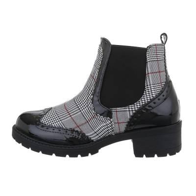 Chelsea Boots für Damen in Schwarz und Grau