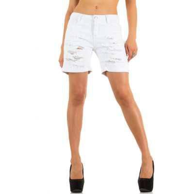 Jeansshorts für Damen in Weiß