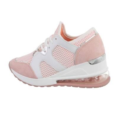 Sneakers low für Damen in Rosa und Weiß