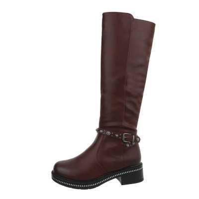 Klassische Stiefel für Damen in Rot