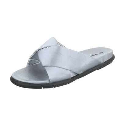 Pantoletten für Damen in Grau