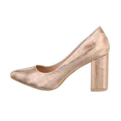 High Heel Pumps für Damen in Gold und Rosa