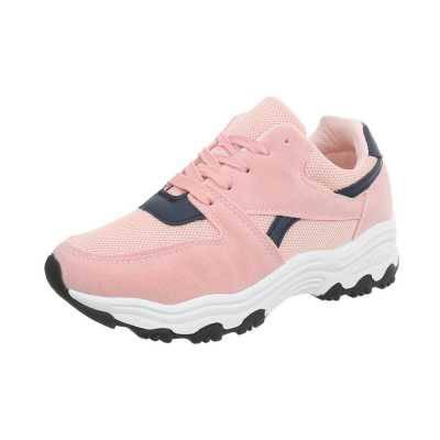 Sneakers low für Damen in Rosa und Blau