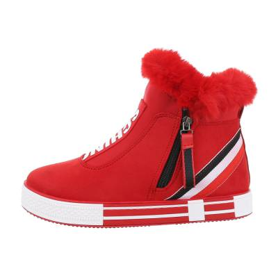 Sneakers high für Damen in Rot