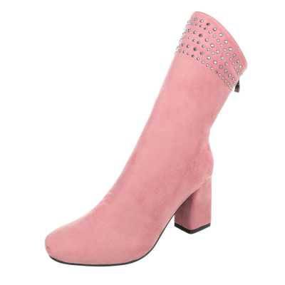 Klassische Stiefeletten für Damen in Rosa