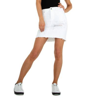 Stretchrock für Damen in Weiß