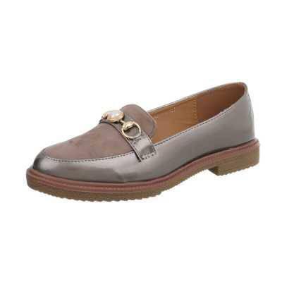 Slipper für Damen in Grau und Braun