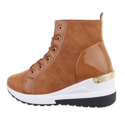 Sneakers High für Damen in Camel