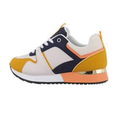 Sneakers low für Damen in Blau und Gelb