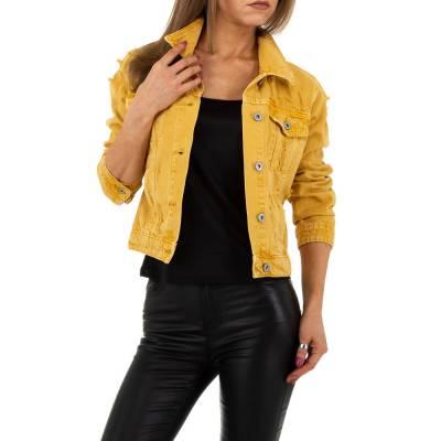Jeansjacke für Damen in Gelb