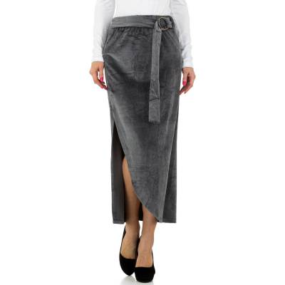 Maxirock für Damen in Grau