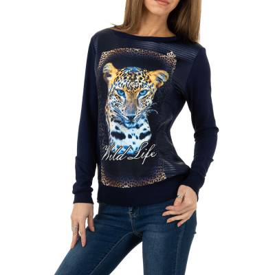 Langarmshirt für Damen in Blau