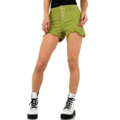 Jeansshorts für Damen in Grün
