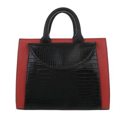 Mittelgroße Damen Tasche Rot Schwarz