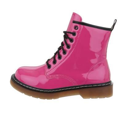 Schnürstiefeletten für Damen in Pink