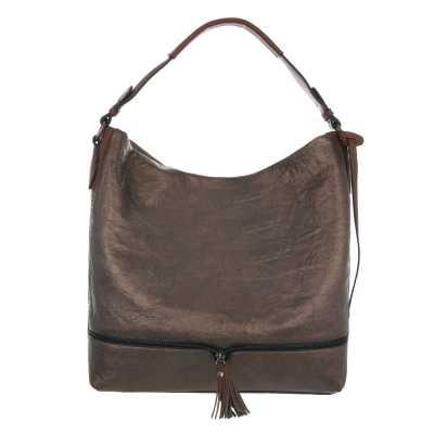 Mittelgroße Damen Tasche Bronze