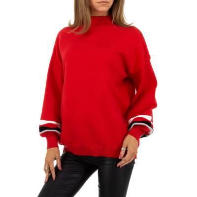Strickpullover für Damen in Rot