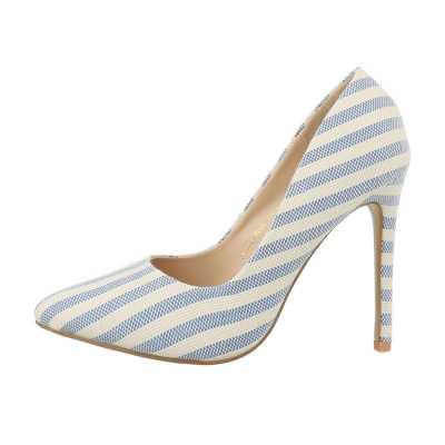 High Heel Pumps für Damen in Beige und Blau