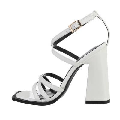High-Heel Sandaletten für Damen in Weiß