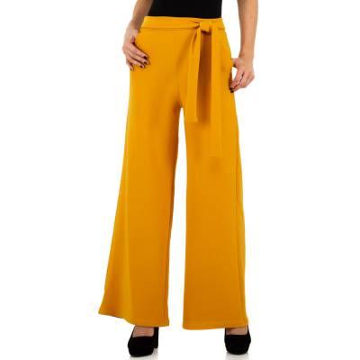 Stoffhose für Damen in Gelb