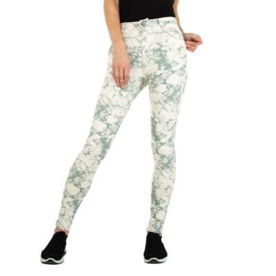 Skinny Jeans für Damen in Grün und Beige