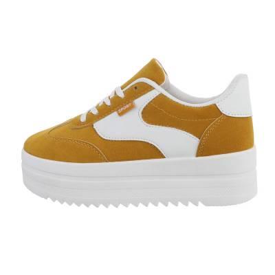 Sneakers low für Damen in Gelb und Weiß