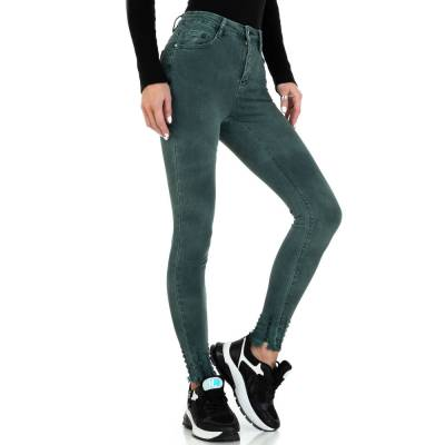 High Waist Jeans für Damen in Grün