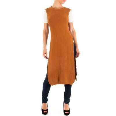 Longpullover/Tunika für Damen in Braun