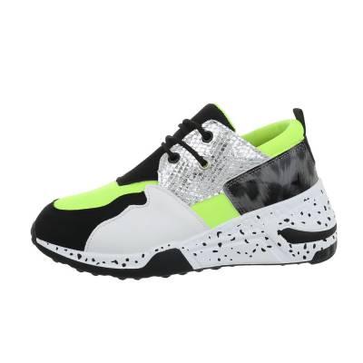 Sneakers low für Damen in Grün und Silber