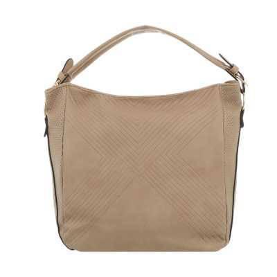 Mittelgroße Damen Tasche Beige Gold