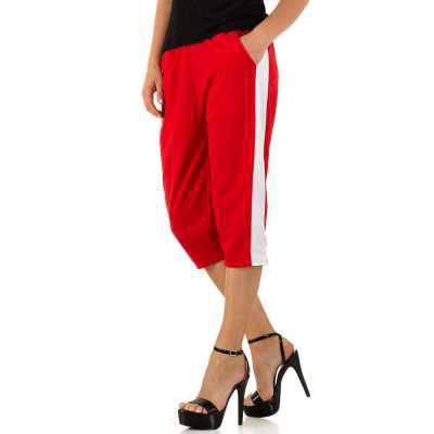 Caprihose für Damen in Rot