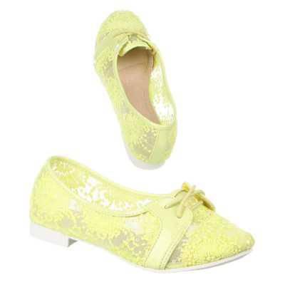 Schnürer für Damen in Gelb
