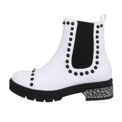 Chelsea Boots für Damen in Weiß