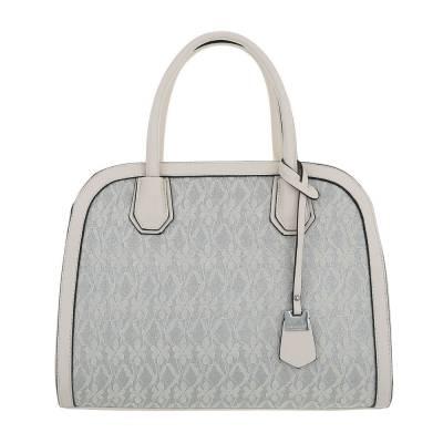 Mittelgroße Damen Tasche Beige Grau