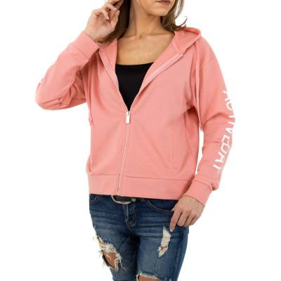 Sweatjacke für Damen in Rosa