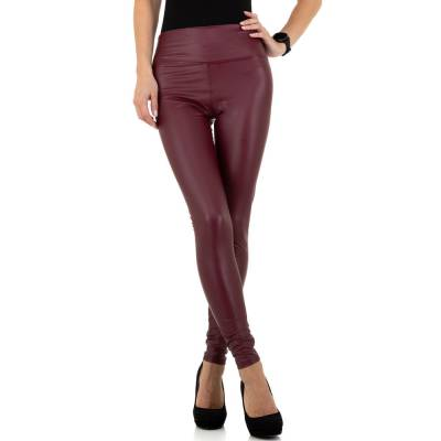 Leggings in Lederoptik für Damen in Rot